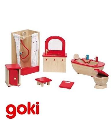Salle de bain meubles pour maison de poupées Enfant 3 ans +