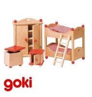 Chambre d'enfants meubles pour maison de poupées Enfant 3 ans +