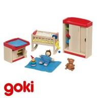 Chambre de bébé meubles pour maison de poupées Enfant 3 ans +