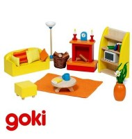Séjour mobilier meubles maison de poupées Jouet en bois 24 pcs