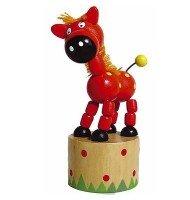 Jouet en bois Wakouwa Marionnette Animal articulé Enfant 3 ans +