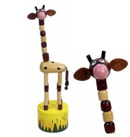 Jouet Wakouwa en bois Girafe Marionnette animaux enfant 3 ans +