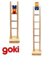 Clown qui descend l'échelle 40 cm Jouet en bois Enfant 3 ans +