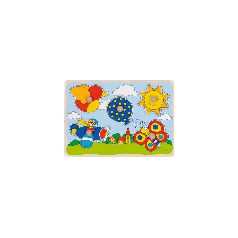 puzzle premier age boutons jouet en bois 5 pcs enfant 1. Black Bedroom Furniture Sets. Home Design Ideas