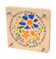 Jouet en bois Presse fleurs 18 x 18 cm Jeu éducatif en bois