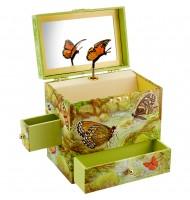Boite à bijoux musicale Enchantmints Papillons