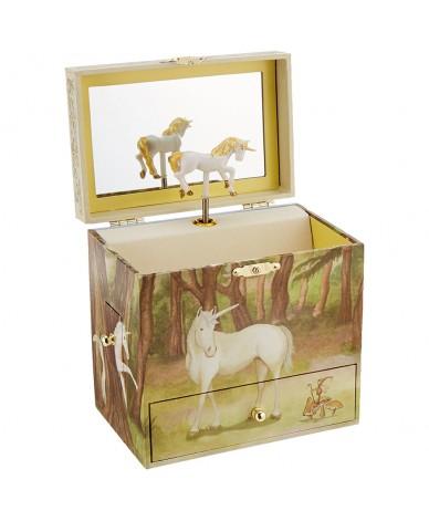 boite bijoux musicale licorne avec tiroirs secrets. Black Bedroom Furniture Sets. Home Design Ideas