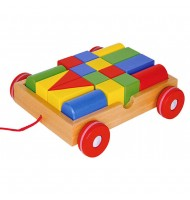 Chariot de 18 formes en bois à tirer pour Enfants 2 ans +