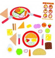 Petit déjeuner à la carte Jouet en bois restaurant