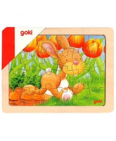 Puzzle en bois animaux - 24 pièces