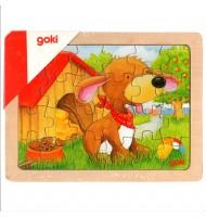 Puzzle en bois animaux - 24 pièces goki