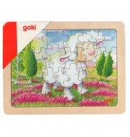 Puzzle en bois animaux - 24 pièces - goki