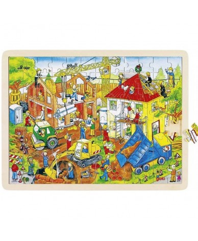 Puzzle en bois 96 pièces GOKI