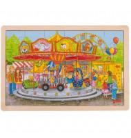 Puzzle en bois  24 pièces GOKI