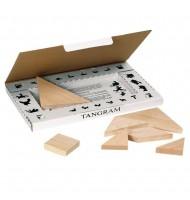 Jeu de Tangram en bois 7 pièces