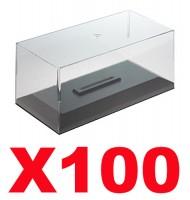 Boites et socles vitrine cristal en plexiglass 1/43 pour voitures miniature