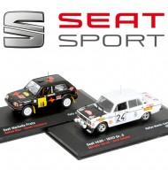 Lot de 2 voitures miniatures Rallye de Monte Carlo Seat