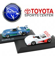 Lot de 2 voitures miniatures MATRA 24 Heures du Mans et TOYOTA grand Prix