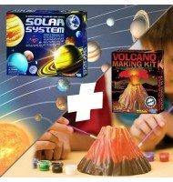 Pack Science et Nature : Système Solaire + Volcan ! Jeux Scientifiques
