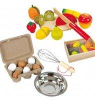 Set pour petits pâtissiers : Boîte d'œufs + Fruits à découper, 1,2,3 pâtissez !