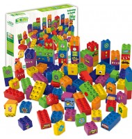 BIOBUDDI jeu de construction 100% végétal Pack 100 pièces