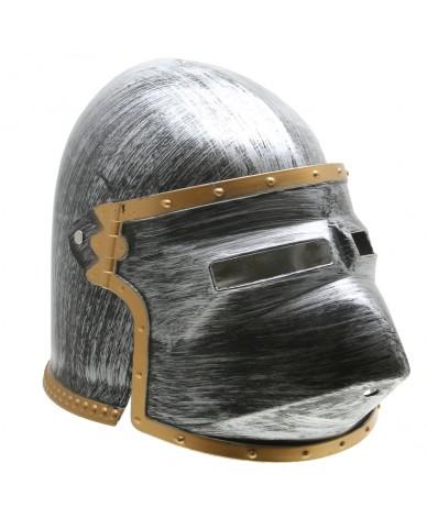 Casque de chevalier médiéval Enfant - Visière à pointe