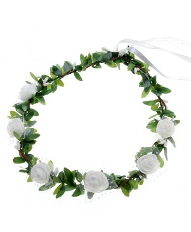 Couronne de fleurs blanches  enfant