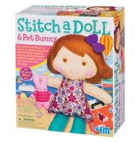 Kit de couture enfant pour fabriquer une poupée Bunny