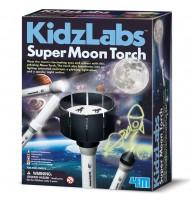 Lampe torche projecteur lune Zootrope enfant