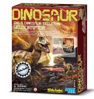 kit du petit archéologue Déterre ton dinosaure Vélociraptor 8 ans +