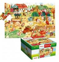 Puzzle La ferme Puzzle géant Ludattica 3 +