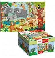 Puzzle La Jungle Puzzle géant Ludattica 3 +