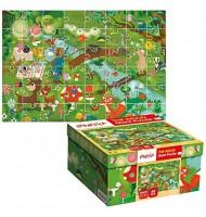 Puzzle La forêt Puzzle géant Ludattica 3 +