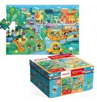 Puzzle La belle ville Puzzle géant Ludattica 3 +