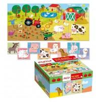 Puzzle Bébé les animaux de la ferme Ludattica 2 +
