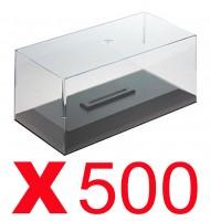 Boites vitrine en plexiglass avec socle 1/43 pour voiture miniature par 500