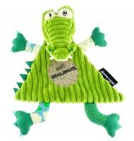 Doudou plat Aligatos Le crocodile Déglingos