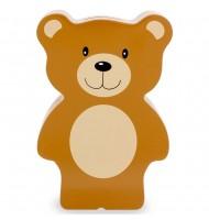 Tirelire en bois ours