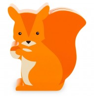 Tirelire en bois écureuil