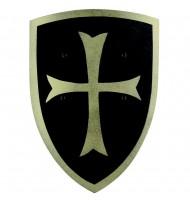 Bouclier en bois Croisé Noir