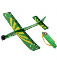 Jouet Avion planeur à élastique Vert Speed Gliders