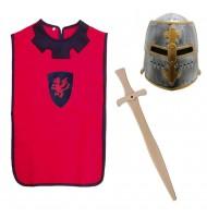 Déguisement chevalier enfant Casque + Tunique + Épée