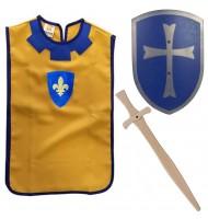Déguisement chevalier Enfant médiéval Tunique + Épée + Bouclier