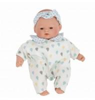 Poupée poupon réaliste en vinyle Little Babies Gotas Azul 26 cm