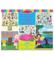 Stickers repositionnables Fées 5 scènes 200 pièces