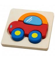 Puzzle en bois bébé Voiture 5 pièces épaisses Jouet 18 mois +