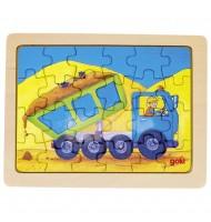Petit Puzzle des véhicules - 24 pièces - Puzzle en bois camion