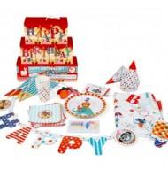 Kit vaisselle et décoration complet pour fête d'anniversaire Cirque