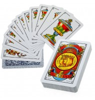 Cartes à jouer Espagnole en étui plastique Jeu de 50 cartes 305 grammes.