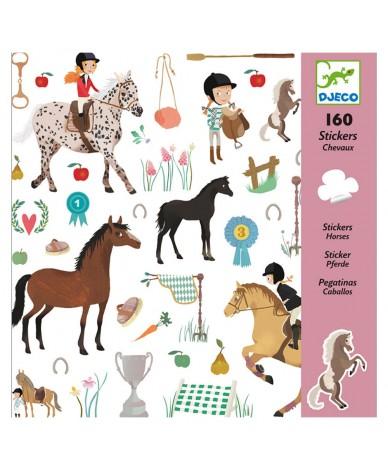 Stickers autocollants Chevaux Djeco Enfants 4 à 8 ans